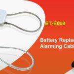 Battery Replaceable Alarming Cable Lock ET-E008
